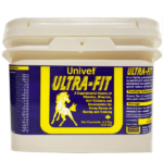 Univet Ultra-fit supplement of vitamins minerals anti-oxidants and glucosamine for young horses in racing and trainingproducts for equine use and improved performance for horses