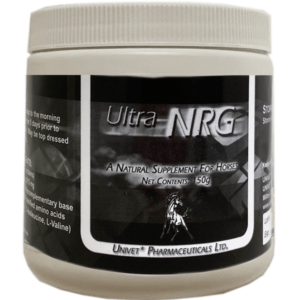 Univet ultra nrg natural supplement products for equine use and improved performance for horses