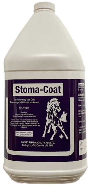 Univet stoma-coat products for equine use and improved performance for horses