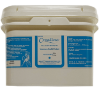 Univet creatine monohydrate products for equine use and improved performance for horses