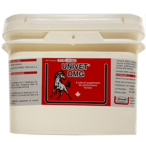 Univet DMG natural supplement for equine use and improved performance for horses