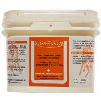 Univet ultra-fer 300 iron copper and cobalt mineral for equine use and improved performance for horses